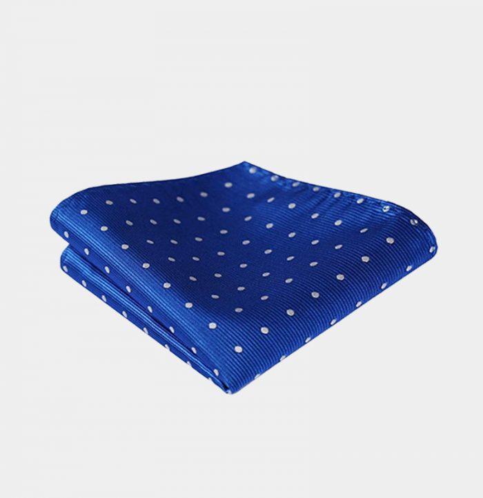 Blue Polka Dot Pocket Square-Handkerchief from Gentlemansguru.com