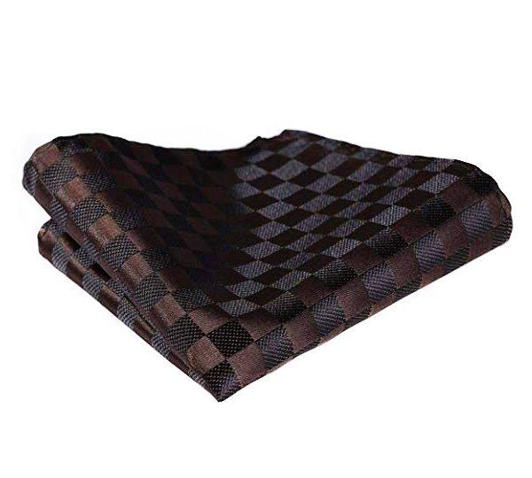 Brown Plaid Pocket Square
