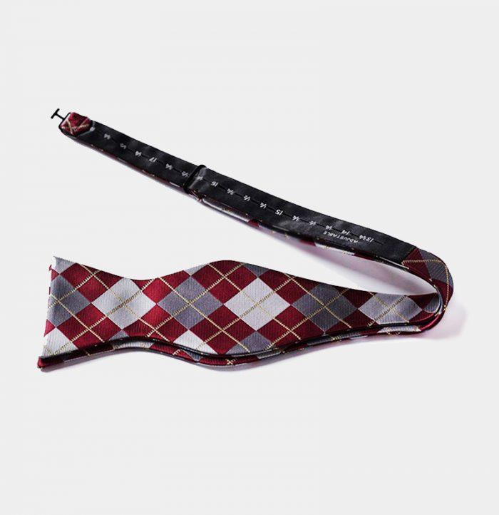 Burgundy Plaid Self-Tie Bow Tie from Gentlemansguru.com