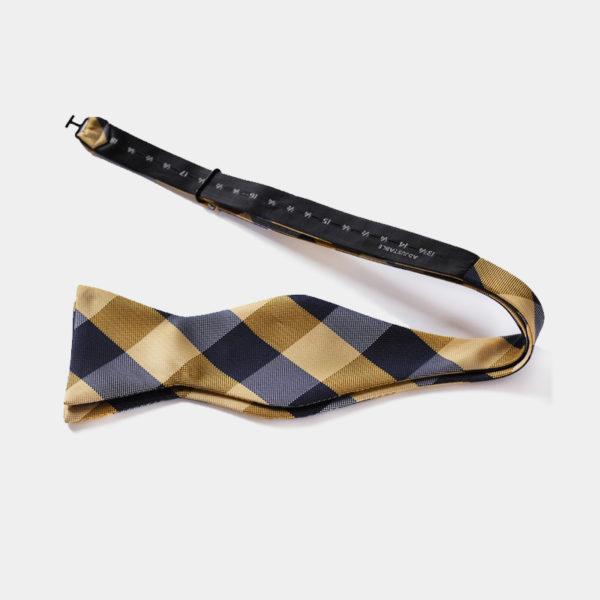Gold Plaid Self-Tie Bow Tie from Gentlemansguru.com