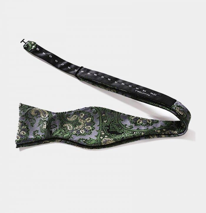 Green Paisley Self-Tie Bow Tie from Gentlemansguru.com