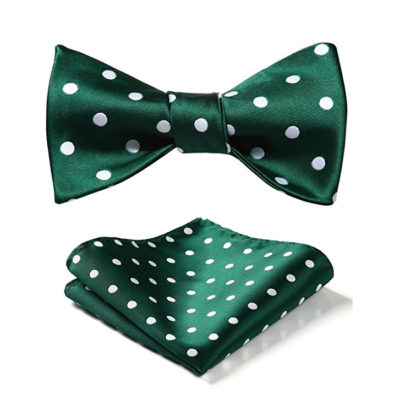Green Polka Dot Bow Tie Set