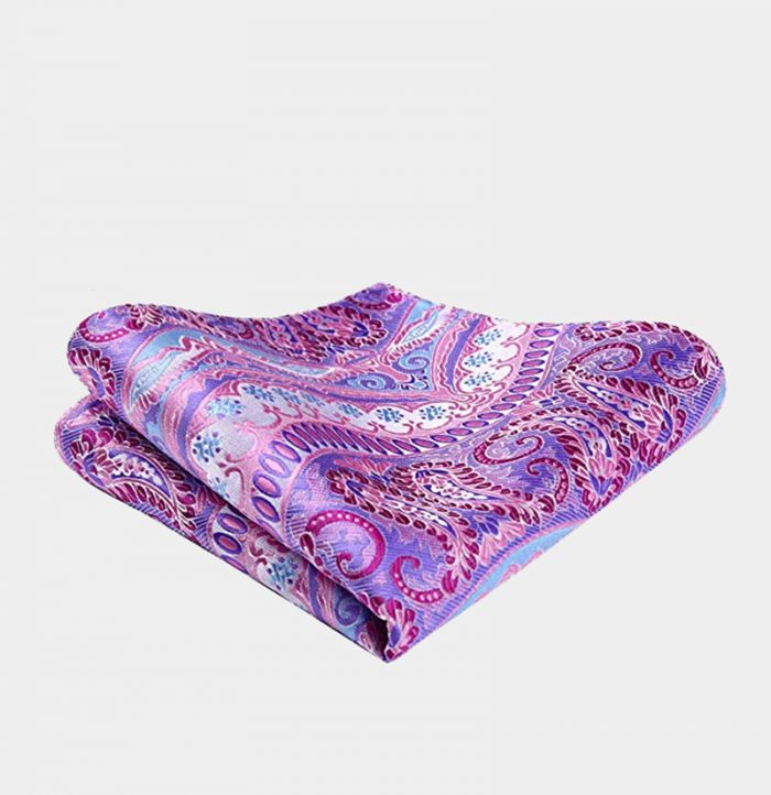 Light Pink Paisley Pocket Square from Gentlemansguru.com