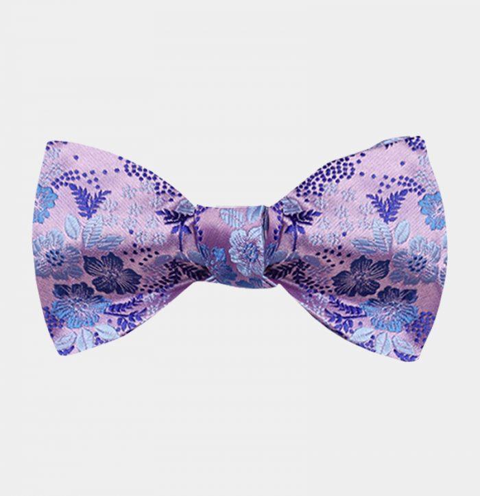 Light Purple Floral Bow Tie from Gentlemansguru.com
