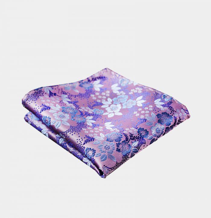 Light Purple Floral Pocket-Square-Handkerchief from Gentlemansguru.com