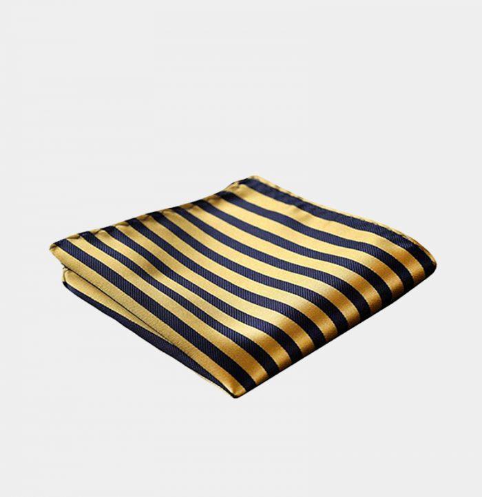 Mens Gold Striped Pocket-Square-Handkerchief-from Gentlemansguru.com