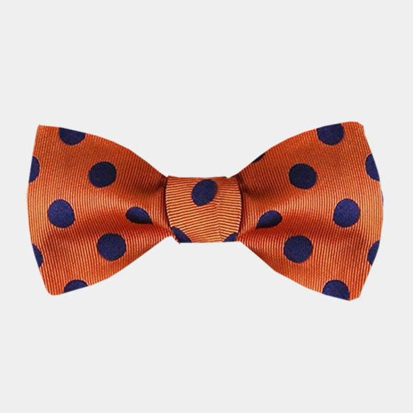 Orange Polka Dot Bow-Tie from Gentlemansguru.com