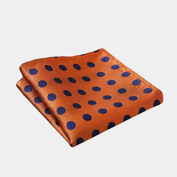 Orange Polka Dot Pocket Square-Handkerchief from Gentlemansguru.com