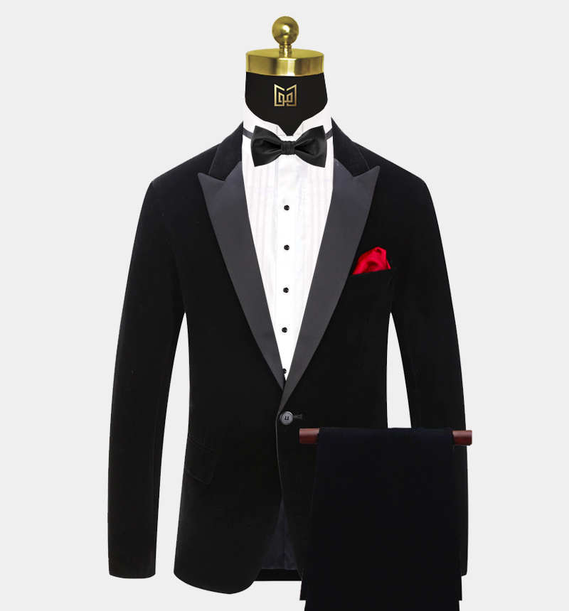 Peak-Lapel-Black-Velvet-Tuxedo-Prom-Suit-from-Gentlemansguru.com