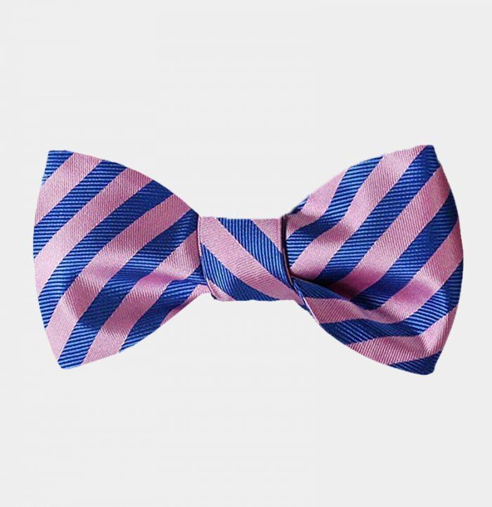 Pink And Blue Striped Bow Tie-Sale-from Gentlemansguru.com