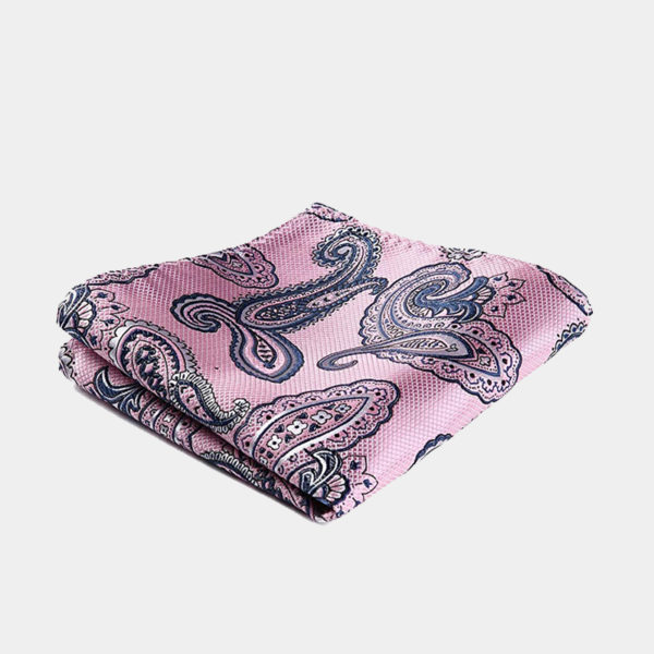 Pink And Navy Blue Pocket-Square-Handkerchief from Gentlemansguru.com