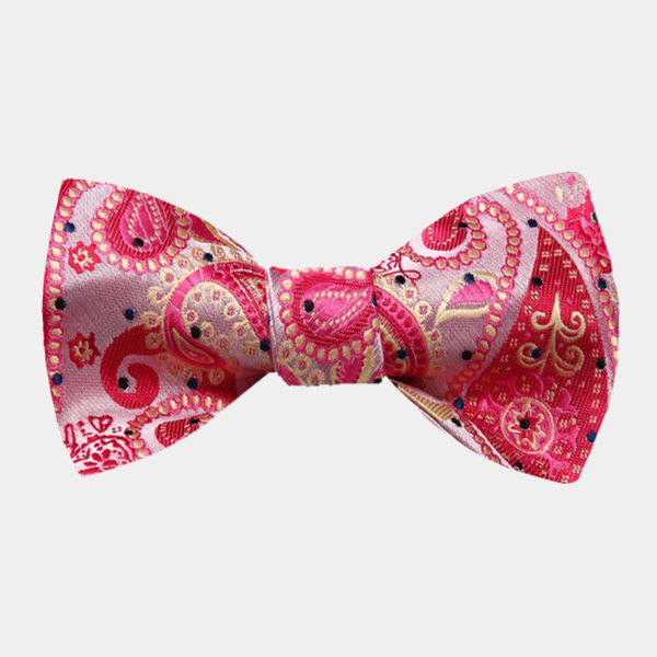 Pink Paisley Bow Tie For Men from Gentlemansguru.com