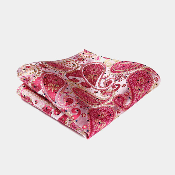 Pink Paisley Pocket-Square-Handkerchief from Gentlemansguru.com