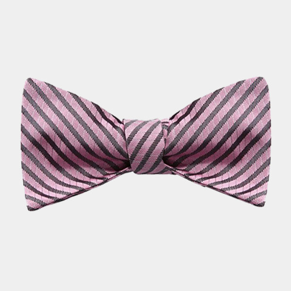 Pink Striped Bow Tie For Men from Gentlemansguru.com