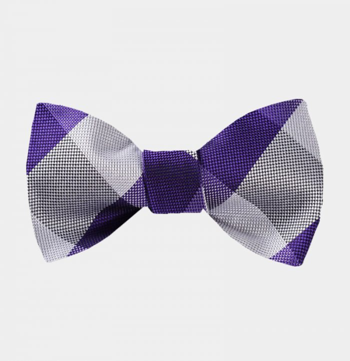 Purple Plaid Bow Tie For Sale from Gentlemansguru.com