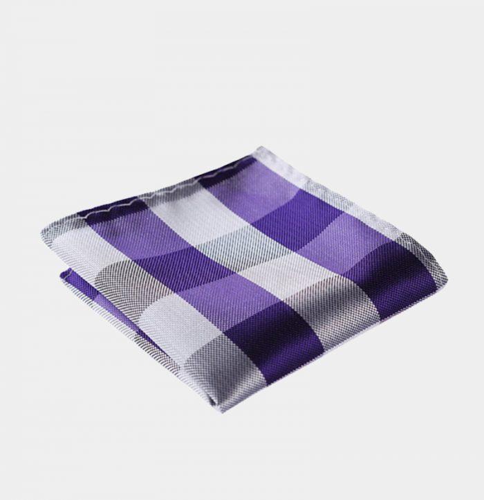 Purple-Plaid-Pocket-Square-Handkerchief from Gentlemansguru.com