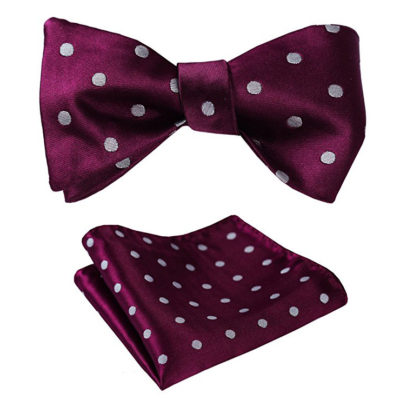 Purple Polka Dot Bow Tie Set