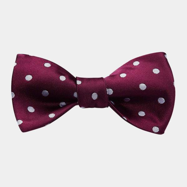Purple Polka Dot Bow-Tie from Gentlemansguru.com