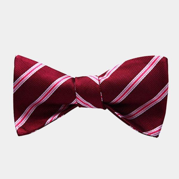 Red Striped Bow Tie For Men from Gentlemansguru.com