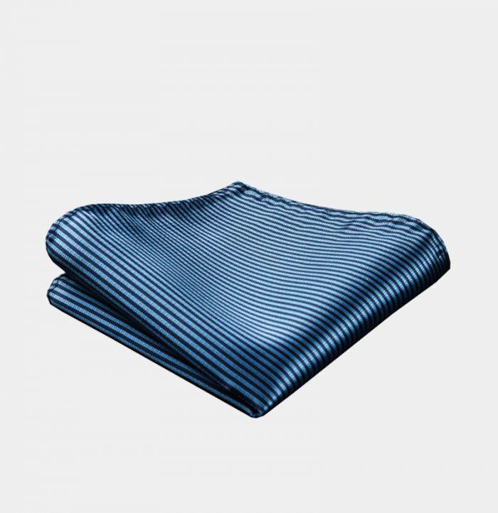 Steel Blue Pocket Square-Handkerchief from Gentlemansguru.com