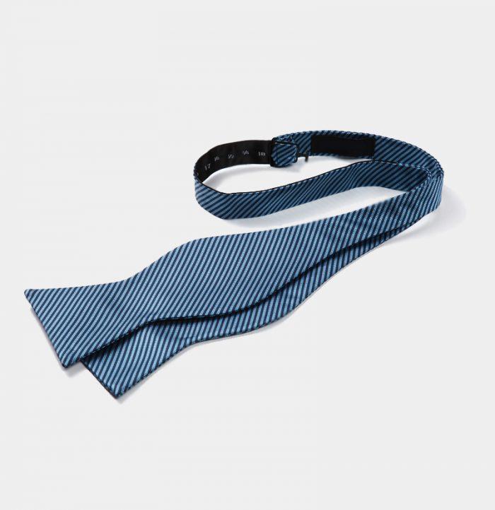 Steel Blue Self-Tie Bow Tie For Men from Gentlemansguru.com