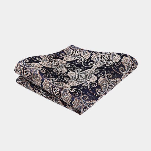 Tan Paisley Pocket-Square-Handkerchief from Gentlemansguru.com