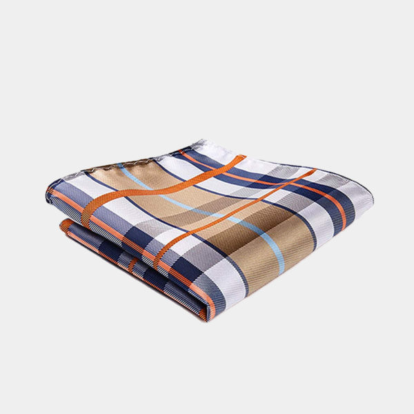 Tan Plaid Pocket-Square-Handkerchief from Gentlemansguru.com