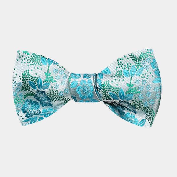 Turauoise Floral Bow Tie For Men from Gentlemansguru.com