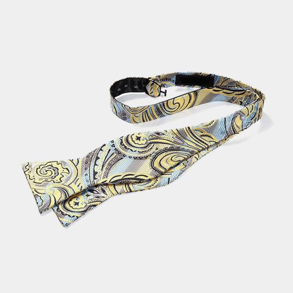 Yellow Paisley Self-Tie Bow Tie from Gentlemansguru.com