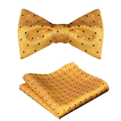 Yellow Polka Dot Bow Tie And Set