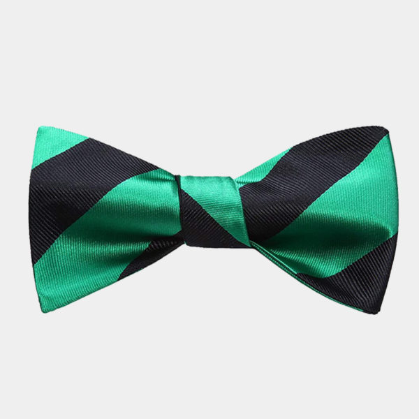 s Green And Black Striped Bow Tie For Men from Gentlemansguru.com