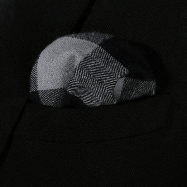 Black And Gray Plaid Handkerchief