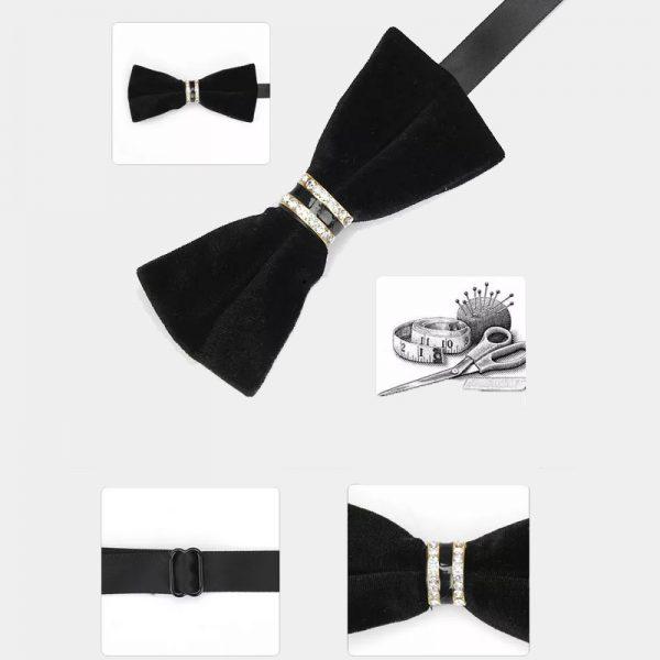 Black Velvet Bow Tie from Gentlemansguru.com