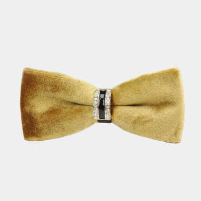 Gold Velvet Bow Tie from Gentlemansguru.com