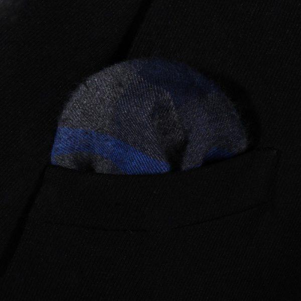 Gray And Blue Plaid Handkerchief