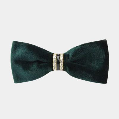 Green Velvet Bow Tie from Gentlemansguru.com