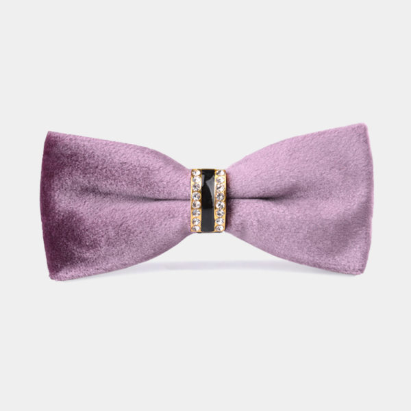Mens-Pink-Velvet-Bow-Tie-from-Gentlemansguru.com