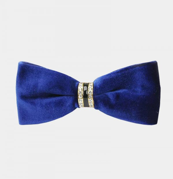 Mens Royal Blue Velvet Bow Tie from Gentlemansguru.com