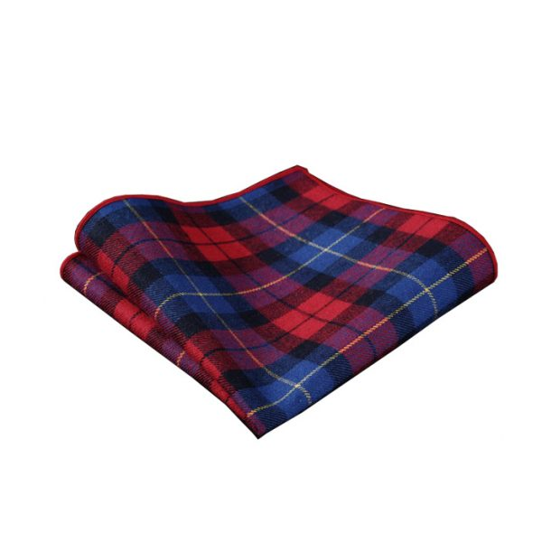 Red And Blue Plaid Pocket Square