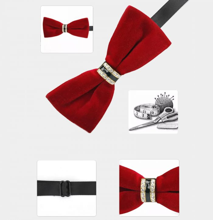 Red Velvet Bow Tie from Gentlemansguru.com