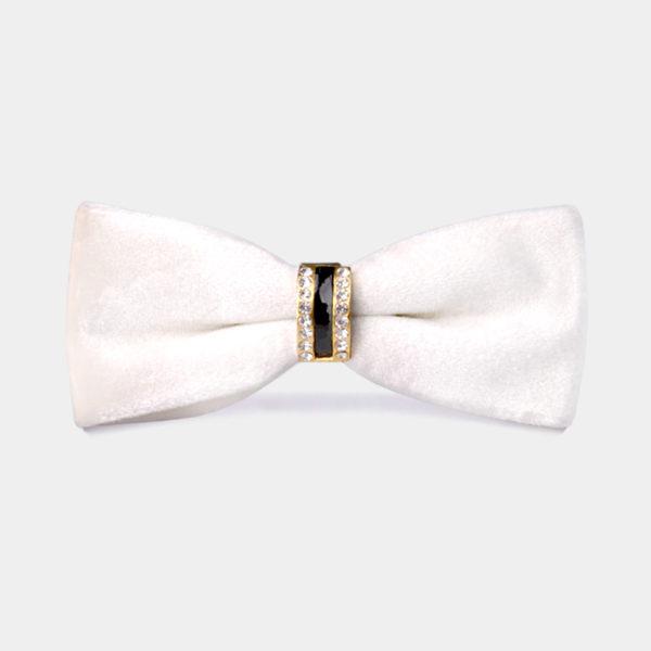 190e5d0dd35c White Velvet Bow Tie + FREE Shipping - Gentleman's Guru