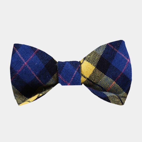 Yellow And Blue Plaid Bow Tie For Sale from Gentlemansguru.com