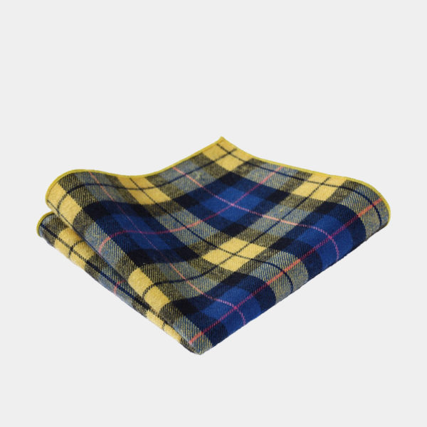 Yellow And Blue Plaid Pocket-Square-Handkerchief from Gentlemansguru.com