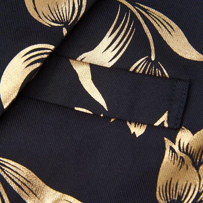 Black And Gold Tulips Floral Formal Blazer