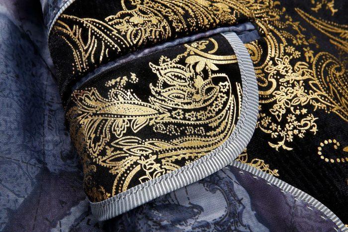 Black And Gold Floral Blazer