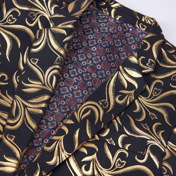 lack And Gold Wedding Tuxedo Jacket