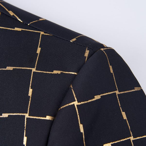 Black and gold Tux Dinner Jacket