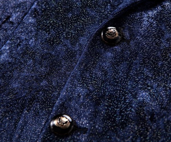 Dark Blue Velvet Jacket - Suit Jacket For Men