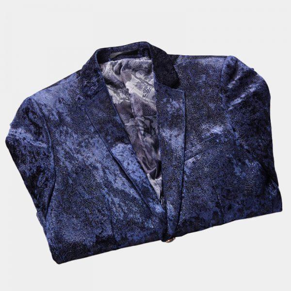 Dark Blue Velvet Jacket