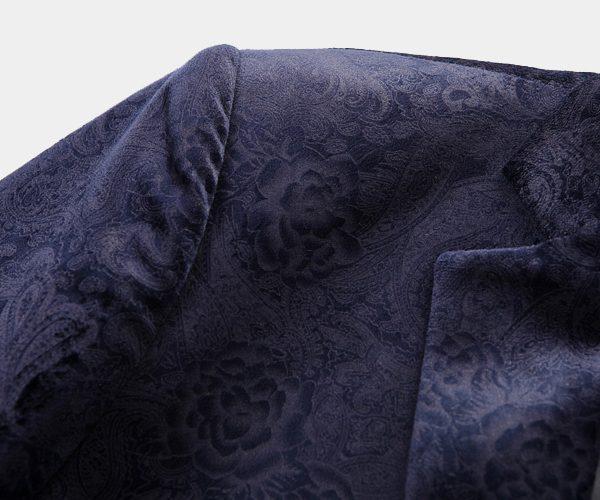 Floral Navy Blue Blazer For Men